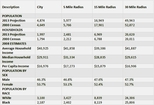 demographics_thomasville_2009